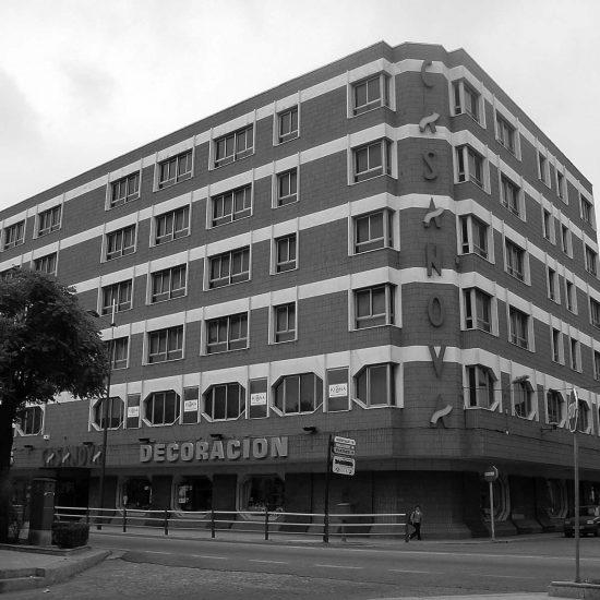 Edificio de CASANOVA en Sueca (Valencia), durante los años '90 del siglo XX.