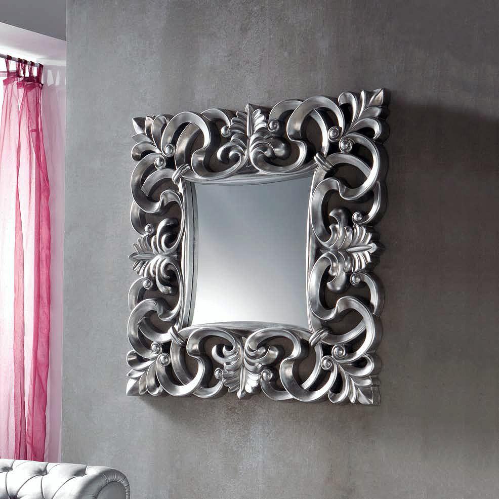 Bonito Blanco Espejo De Pared Enmarcado Cresta - Ideas ...