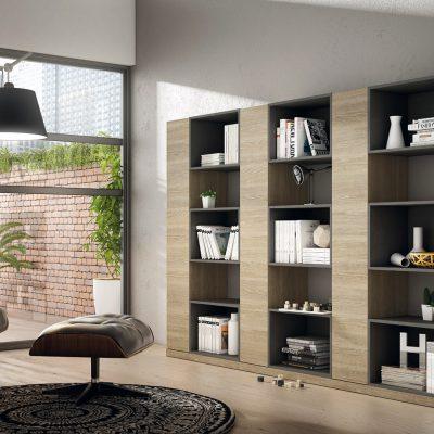 Librería de salón moderna (205 - SL3), disponible en CASANOVA.