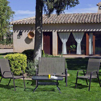 Mesa de centro, sillón y sillas de terraza y jardín (367 - TJ4), disponible en CASANOVA.