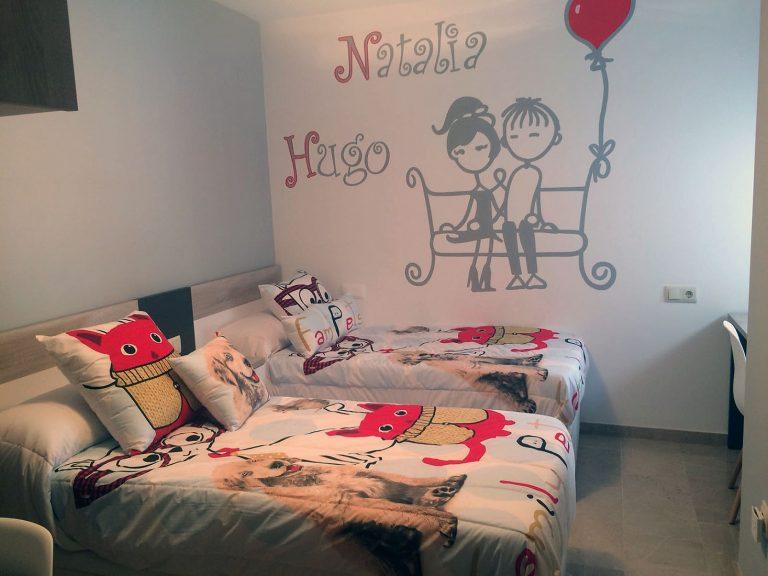 Proyecto 21358, desarrollado por CASANOVA en Sueca (Valencia): dormitorio infantil.