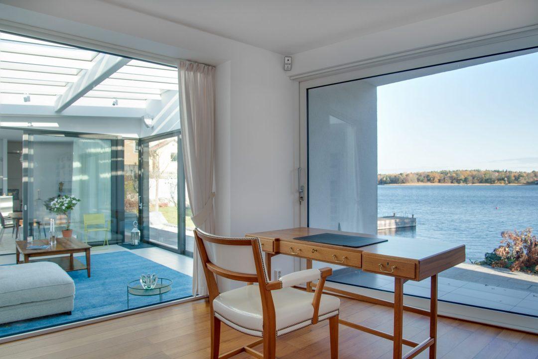 Una zona cerca del exterior puede ser un buen lugar para trabajar en tu casa.