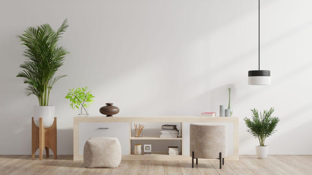 Tendencias de muebles para apartamentos: los muebles bajos te permitirán disfrutar de un ambiente despejado.